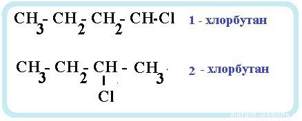 2 хлорбутан структурная формула